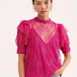 Free People Secret Admirer lace top